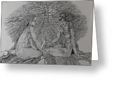 Family Tree Greeting Card by Michol Childress