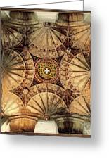 Fan Vaulting Canterbury Cathedral Greeting Card by Jack Torcello