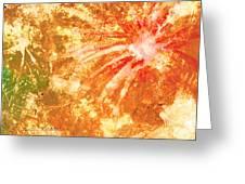 Fantastic Fireworks Greeting Card by Rosie Brown