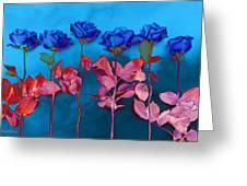 Fantasy Blues Greeting Card by Michelle Wiarda