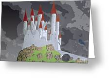 Fantasy Castle Greeting Card by Rod Jones