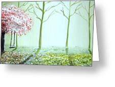 Fantasy Garden Greeting Card by Edwin Alverio