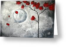Far Side Of The Moon By Madart Greeting Card by Megan Duncanson
