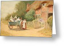 Farewell Greeting Card by Arthur Claude Strachan