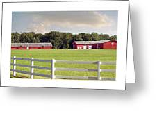 Farm Pasture Greeting Card by Brian Wallace