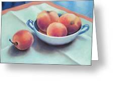 Farm Peaches Greeting Card by Judy Albright