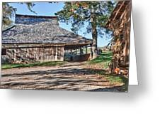 Farm Scene At Booker T. Washington National Monument Park Greeting Card by James Woody