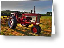 Farmall Tractor In The Sunlight Greeting Card by Andrew Pacheco