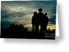 Farmer Family Greeting Card by Andre Babiak