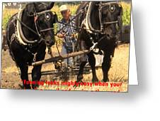 Farming Looks Easy Greeting Card by Ian  MacDonald