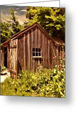 Farming Shed Greeting Card by Lourry Legarde