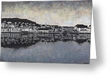 Farsund Waterfront Greeting Card by Janet King