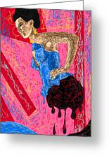 Fashion Abstraction De Angela Balderston Greeting Card by Kenal Louis
