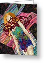 Fashion Abstraction De Dan Richters Greeting Card by Kenal Louis
