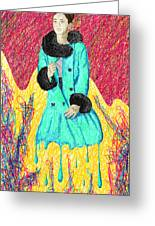 Fashion Abstraction De Eliana Smith Greeting Card by Kenal Louis