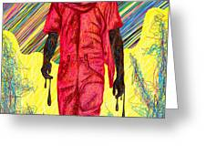 Fashion Abstraction Of Audio Helkuik Greeting Card by Kenal Louis