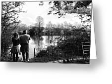 Father And Daughter - River Dee Chester Greeting Card by Georgia Fowler
