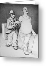 Father And Son Greeting Card by Louis Gleason