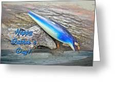 Fathers Day Greeting Card - Vintage Floyd Roman Nike Fishing Lure Greeting Card by Mother Nature