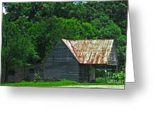 Feed Stand Greeting Card by Scott Hervieux