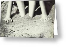 Feet In The Sand Greeting Card by Joana Kruse
