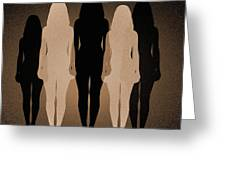 Female Identity, Conceptual Image Greeting Card by Victor De Schwanberg