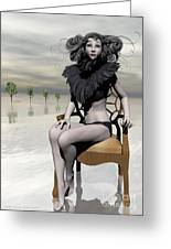 Femme Avec Chaise Greeting Card by Sandra Bauser Digital Art