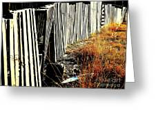 Fence Abstract Greeting Card by Joe Jake Pratt
