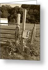 Fence Post Greeting Card by Jennifer Lyon