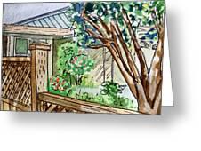 Fence Sketchbook Project Down My Street Greeting Card by Irina Sztukowski