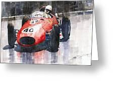Ferrari Dino 246 F1 Monaco Gp 1958 Wolfgang Von Trips Greeting Card by Yuriy  Shevchuk