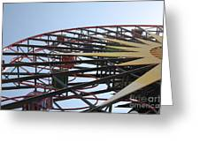 Ferris Wheel - 5d17620 Greeting Card by Wingsdomain Art and Photography