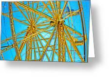 Ferris Wheel Greeting Card by Gregory Dyer