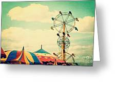 Ferris Wheel Greeting Card by Kim Fearheiley