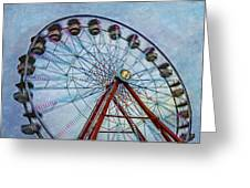 Ferris Wheel Greeting Card by Susan Candelario