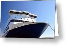 Ferry Boat. Greeting Card by Fernando Barozza