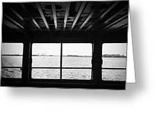 Ferry Window Greeting Card by Eli Maier