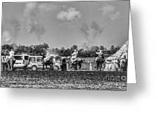 Festival Final BW Greeting Card by Chuck Kuhn