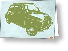 Fiat 500 Greeting Card by Naxart Studio