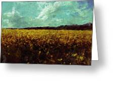 Field Of Yellow Greeting Card by Mark Denham