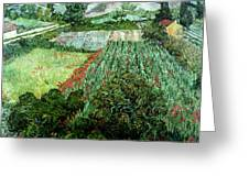Field With Poppies Greeting Card by Vincent Van Gogh