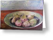 Figs In Summer Greeting Card by Sarie Eksteen
