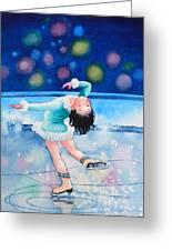Figure Skater 16 Greeting Card by Hanne Lore Koehler