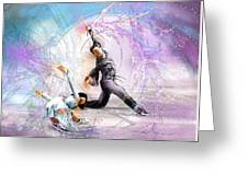 Figure Skating 02 Greeting Card by Miki De Goodaboom