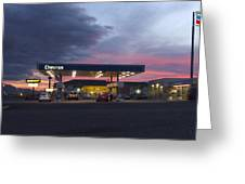 Filler Up Greeting Card by Mike McGlothlen