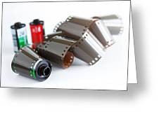 Film And Canisters Greeting Card by Carlos Caetano