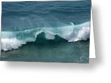Final Collapse Of A Wave Greeting Card by Gregory Scott