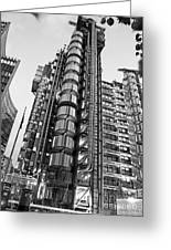 Finance The Lloyds Building In The City Greeting Card by Chris Smith