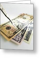 Financial Cuts Greeting Card by Tek Image