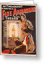 Fine Armagnac Advertisement Greeting Card by Eugene Oge